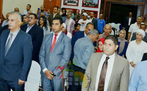 وكيل وعضوي مجلس أمناء مدينة ٦أكتوبر يشاركون في احتفالية أبطال النصر