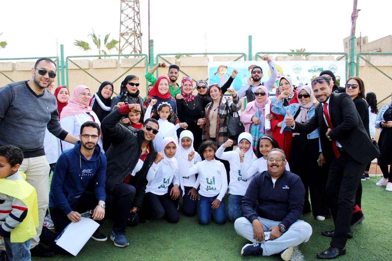 بالصور مبادرة (أنا بطل) حدث فريد من نوعه بمدينة ٦ أكتوبر بمركز شباب الحي السادس.