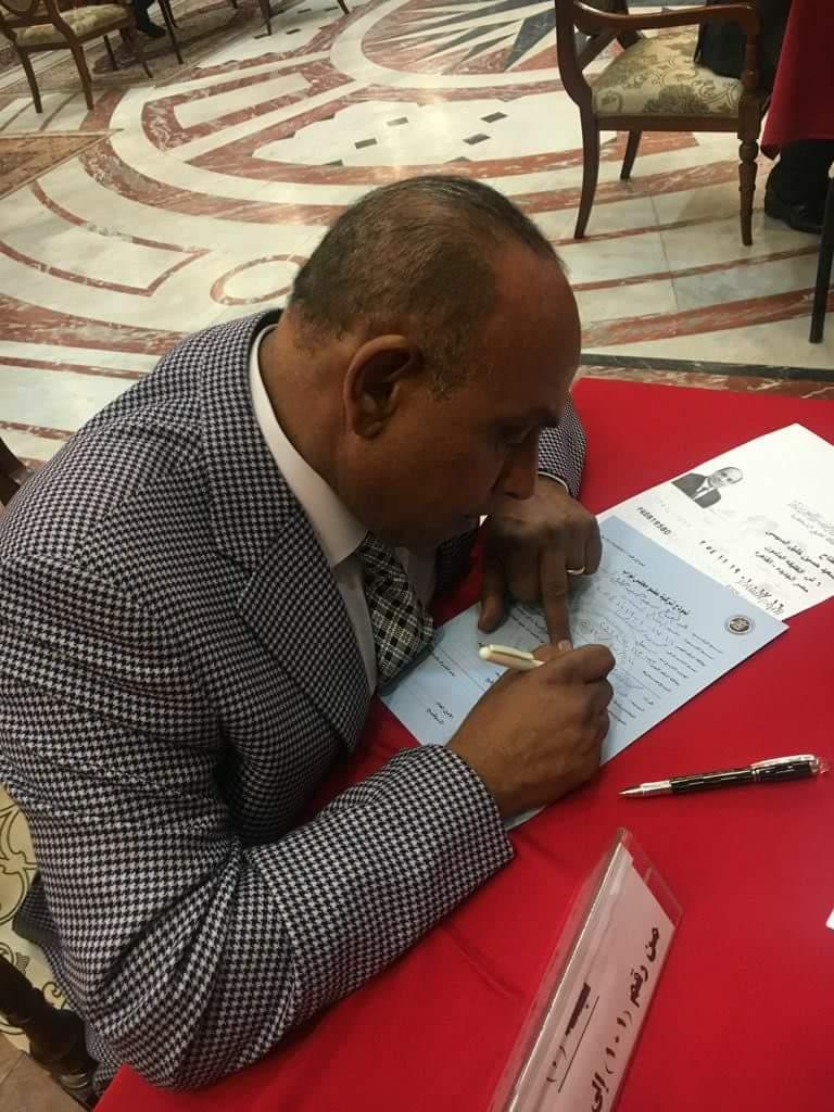محمود خميس: السيسى خلص مصر من العصابة الارهابية ويستحق رئاسة مصر لفترة ثانية.