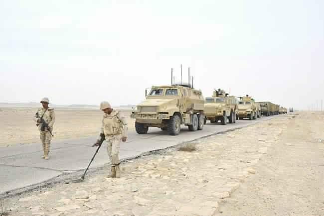 القوات المسلحة تدمر 20 هدفاً للعناصر الإرهابية
